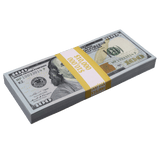100x $100 Full Print Prop Money New Series Stack