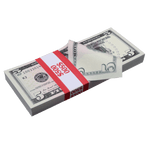 100x $5 Full Print Prop Money New Series Stack