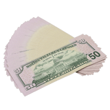 25x $50 Full Print Prop Money New Series Bills