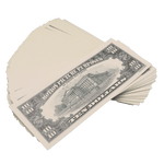 100x $10 Full Print Prop Money 1990 Series Stack