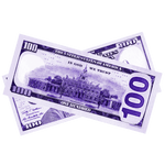 $100 New Series Purple Bills