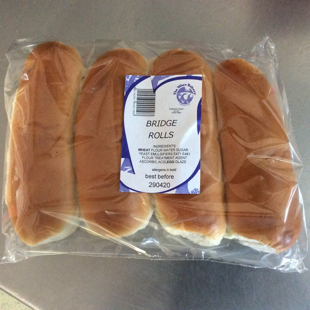 Hot Dog Buns Ythan Bakery (x 4)