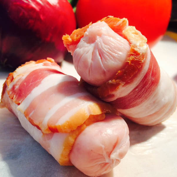Pigs in Blankets - Pork Chipolata Sausages in Bacon