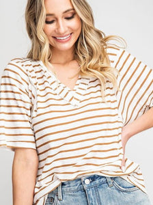 Backyard Picnic Striped Shirt