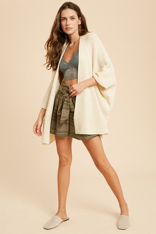Hint of Gold Open Cardigan