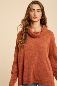 Falling Leaves Cowl Neck Sweater