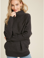Load image into Gallery viewer, Capsule Wardrobe Ribbed Sweater (Charcoal)