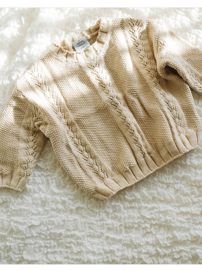 Sand Oversized Sweater