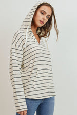 Load image into Gallery viewer, Beach Strolling Striped Hoodie