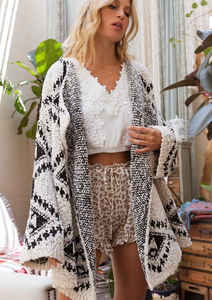 Waterfall Aztec Cardigan