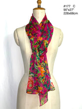 Load image into Gallery viewer, Summer collection - printed silk crinkle scarf