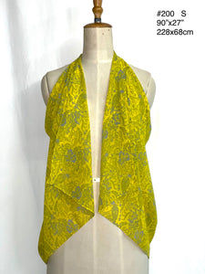 Summer collection - printed silk chiffon scarf