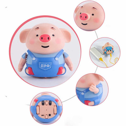 Mini Pig Robot Remote Inductive Radio Vehicle Pen Educational Toy