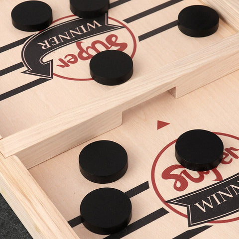 Fast Sling Puck Table Hockey Game Parent-Child Toys Gift