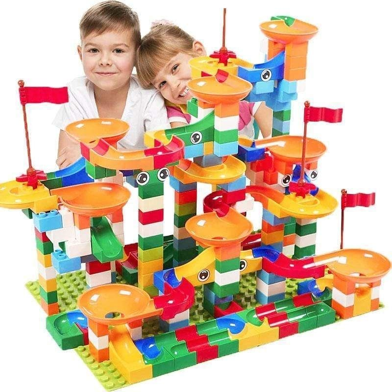 Marble Empire™ - Crazy Marble Run Building Blocks - BigBoomidea