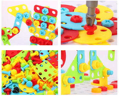 Electric Drill Screws Blocks Puzzle Toys - BigBoomidea