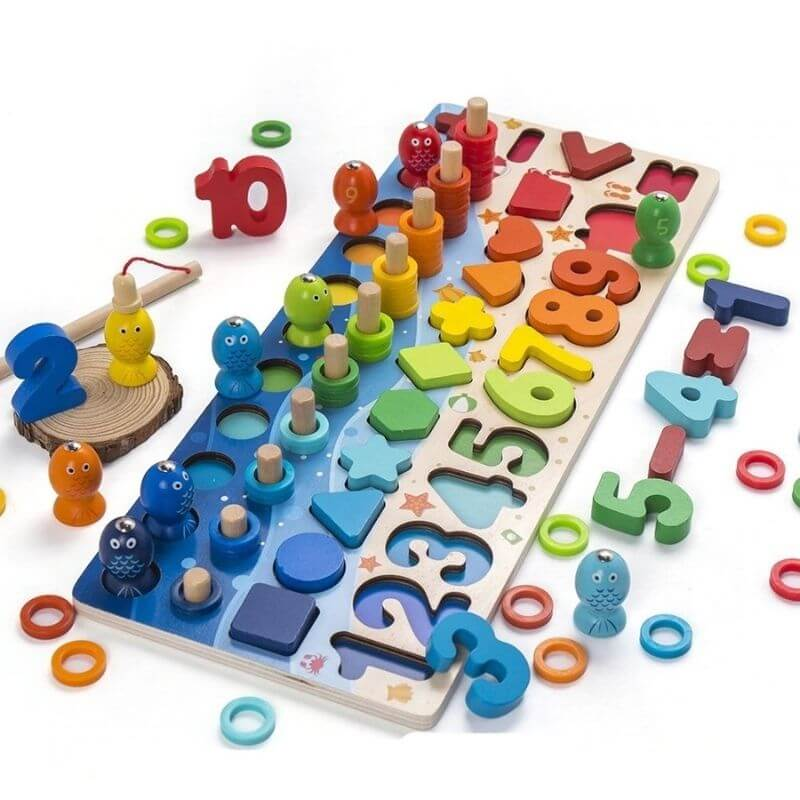 Montessori Wooden Educational Toys - BigBoomidea