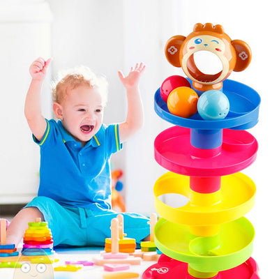5-layer Building Block Track Turn Music Roll Ball Baby Toy - BigBoomidea