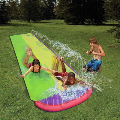 Ultimate Dual Water Slide - Splash Pool - BigBoomidea