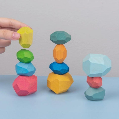 Wooden Rock Balancing Blocks Toys