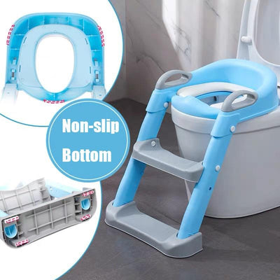Potty Training Seat With Step Stool Ladder For Boys and Girls - BigBoomidea