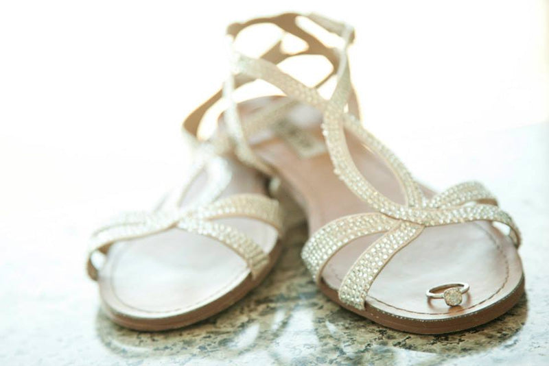 sparkly wedding grecian inspired sandals