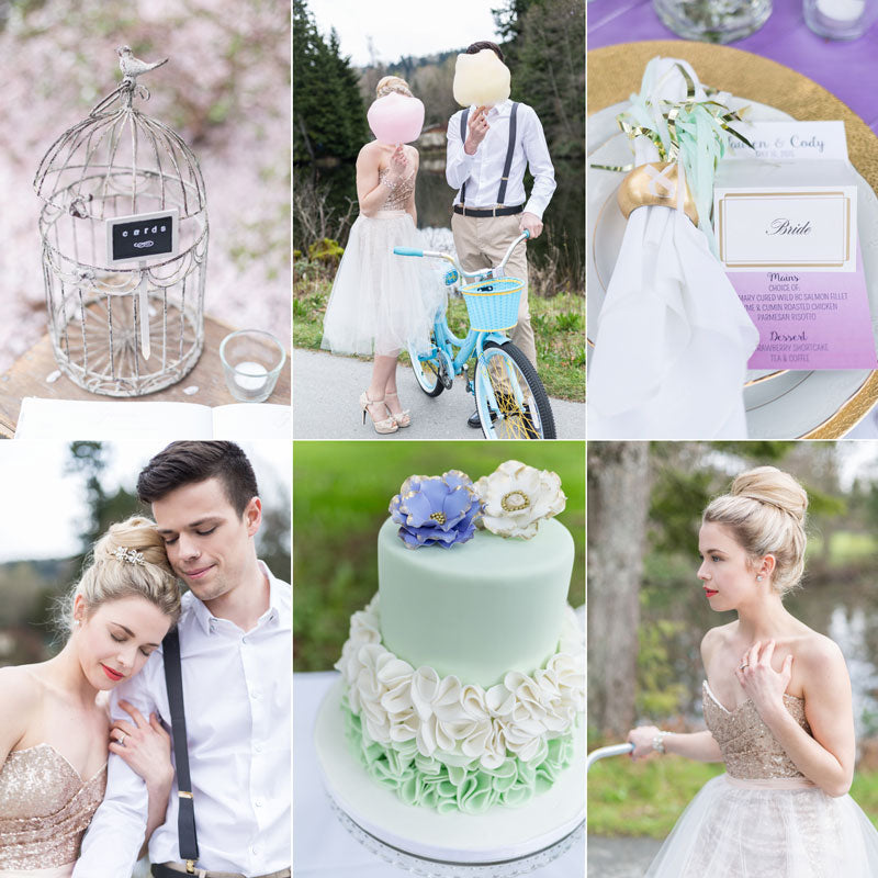 sweet beginnings cotton candy and pastel wedding ideas