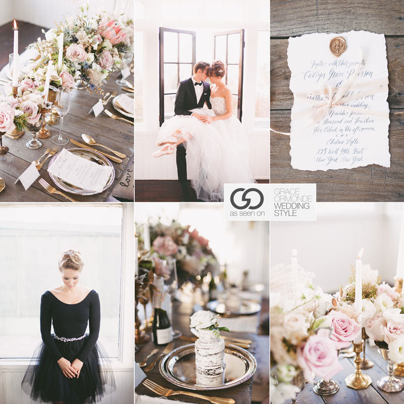 ballet inspired wedding ideas and decor blush pink and gold