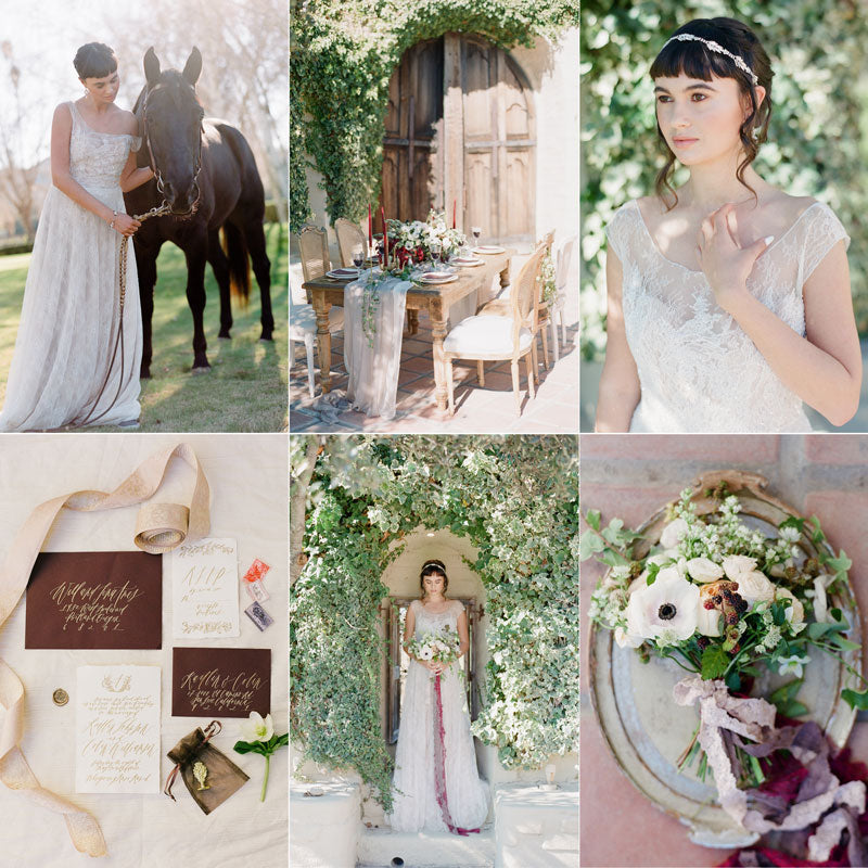 spanish marsala southern california wedding inspiration