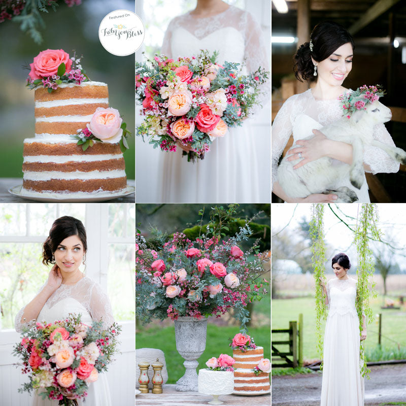 vintage farm wedding ideas pinks corals and cream as seen on fab you bliss
