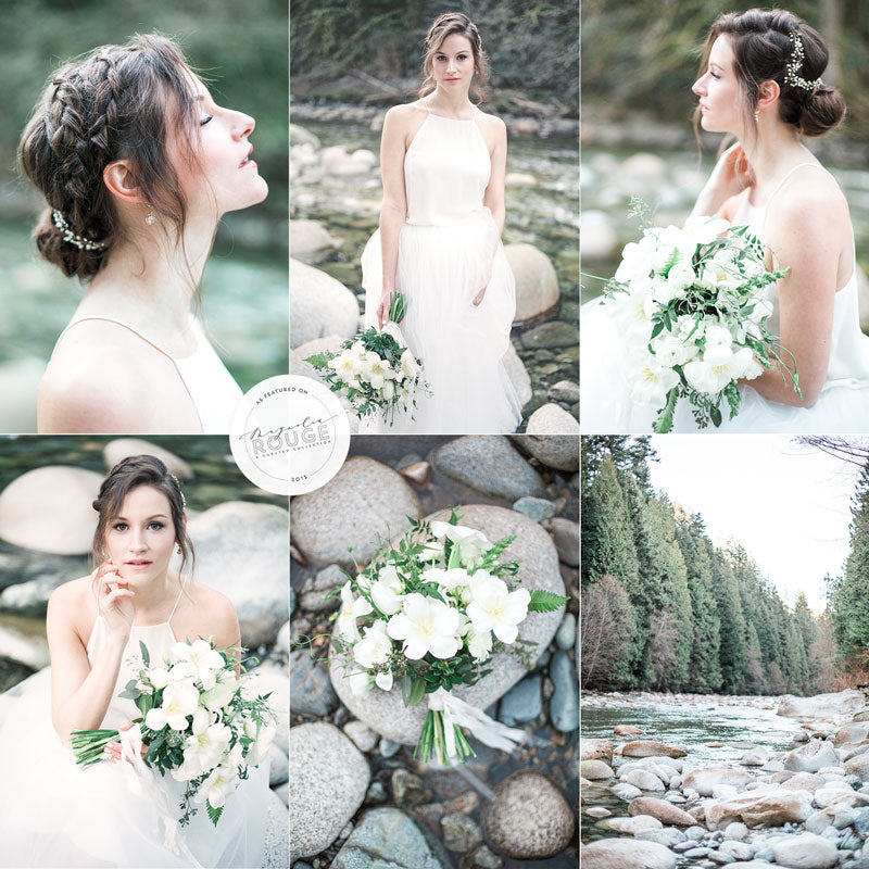 spring bridal beauty north vancouver creek outdoor pacific northwest bride