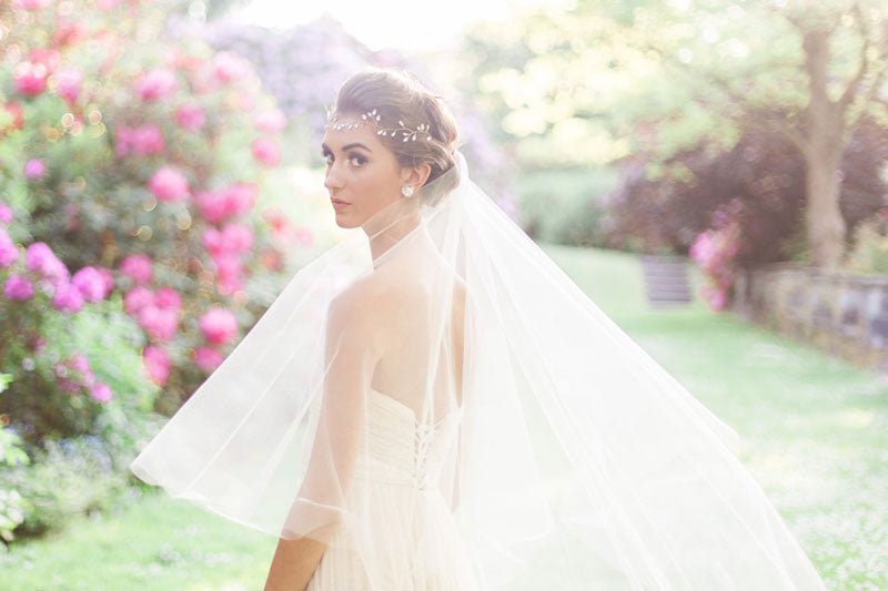delphine chapel length drop veil