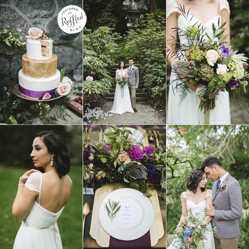 gold and plum  garden wedding ideas and inspiration