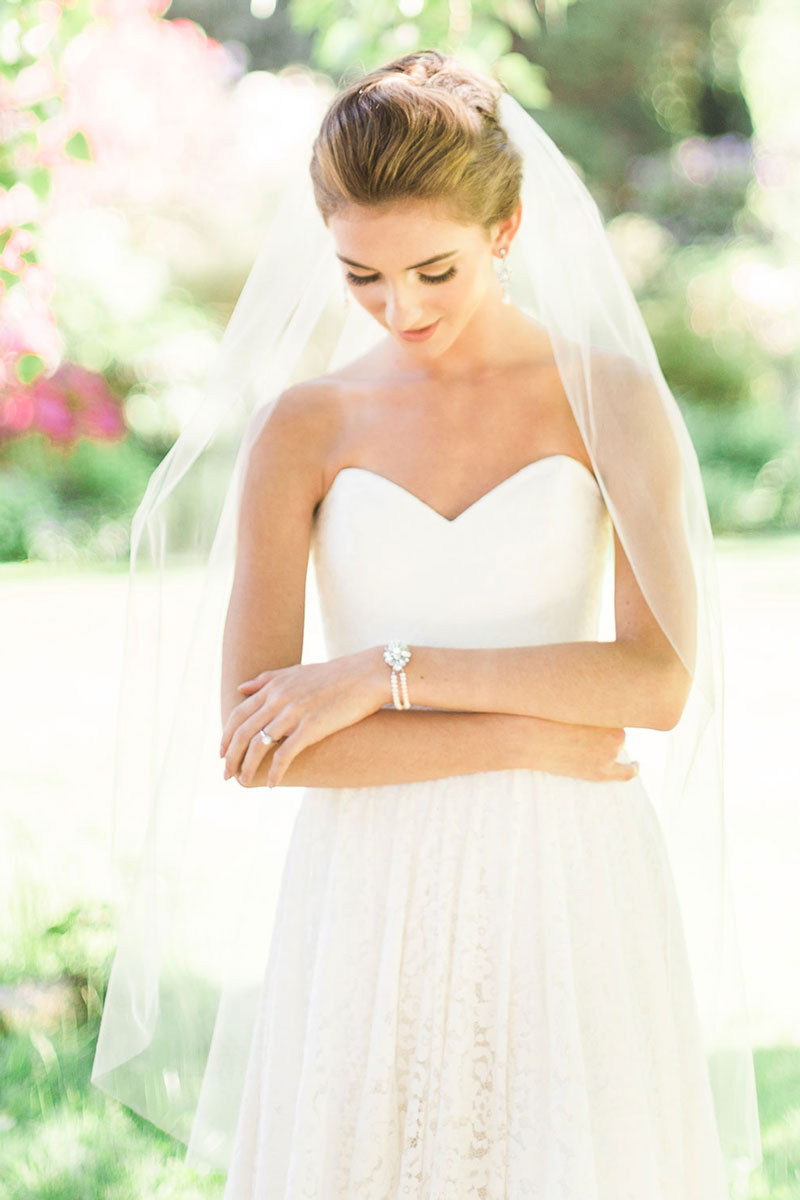 lily illusion tulle fingertip veil