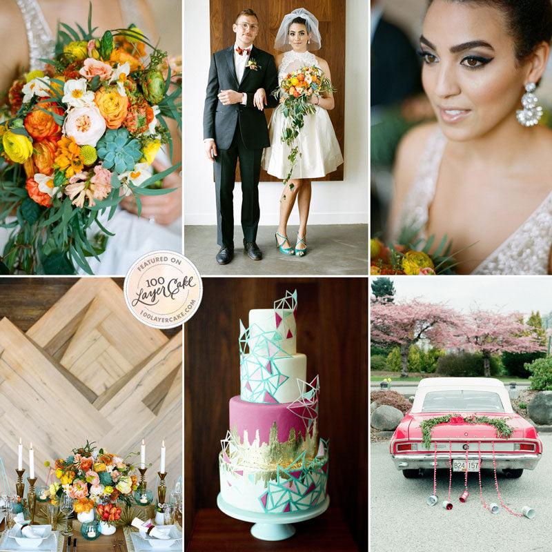 mid-century modern retro wedding ideas and inspiration