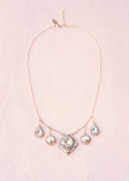 Vintage Crystal Drop Necklace