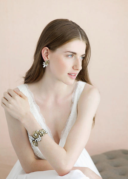 Crystal Bouquet Bracelet
