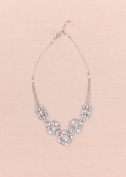 Crystal Statement Necklace (N211)
