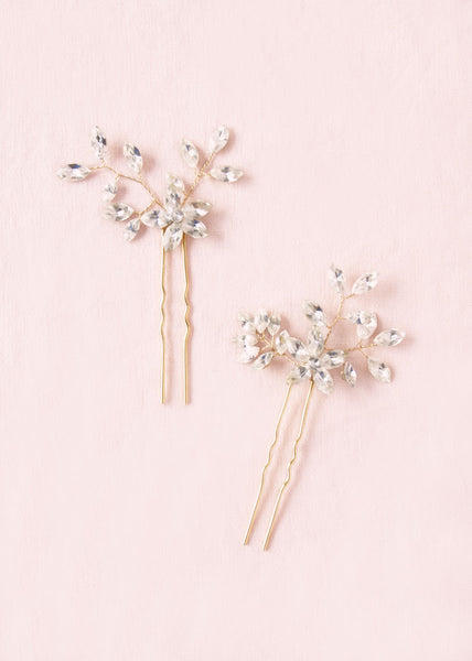 everthine crystal hair pins gold atelier elise