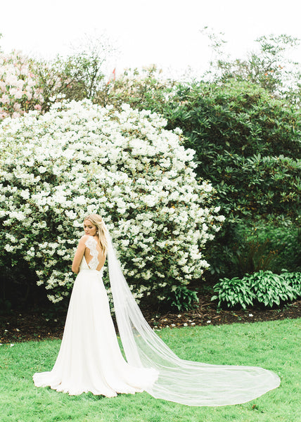 Lily Single Layer Cathedral Veil