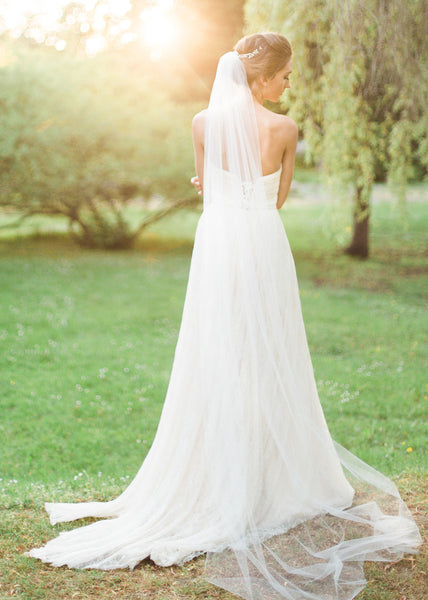 Lily Single Layer Chapel Veil