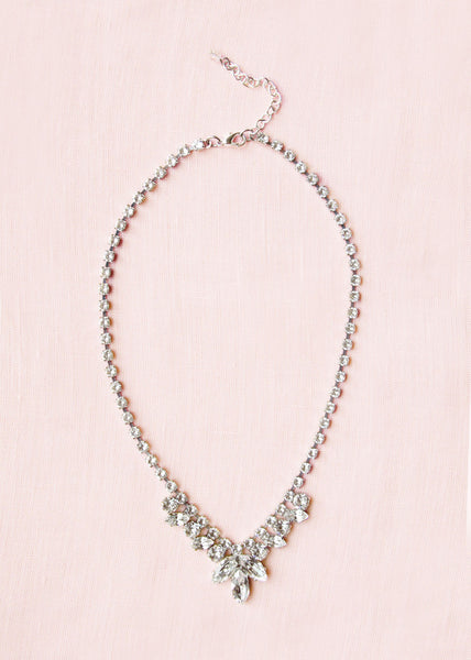 Marquise Crystal Drop Necklace