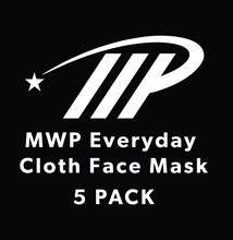 Load image into Gallery viewer, MWP Everyday Cloth Face Mask - 5 Pack