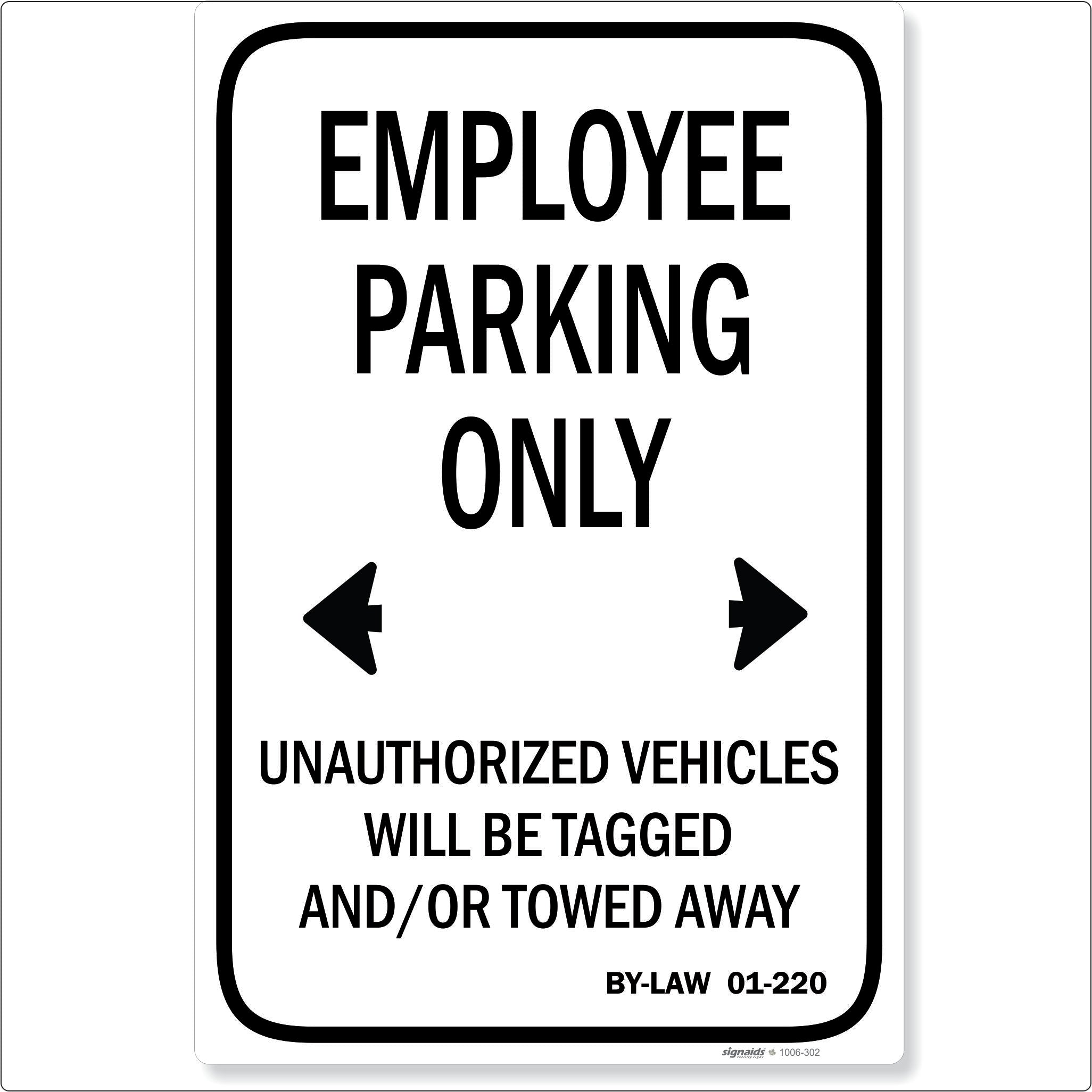 Employee Parking Only