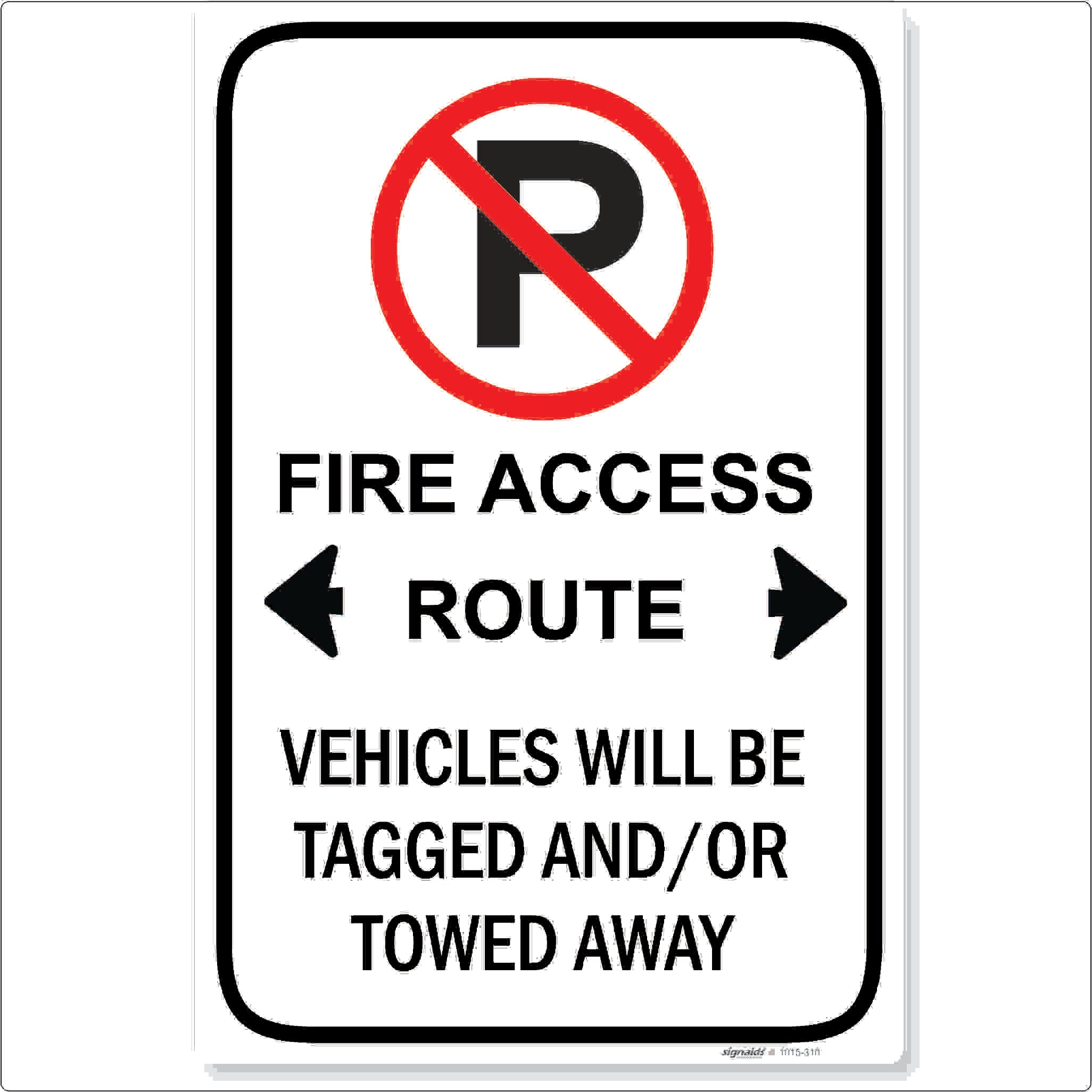Fire Access Route No Parking