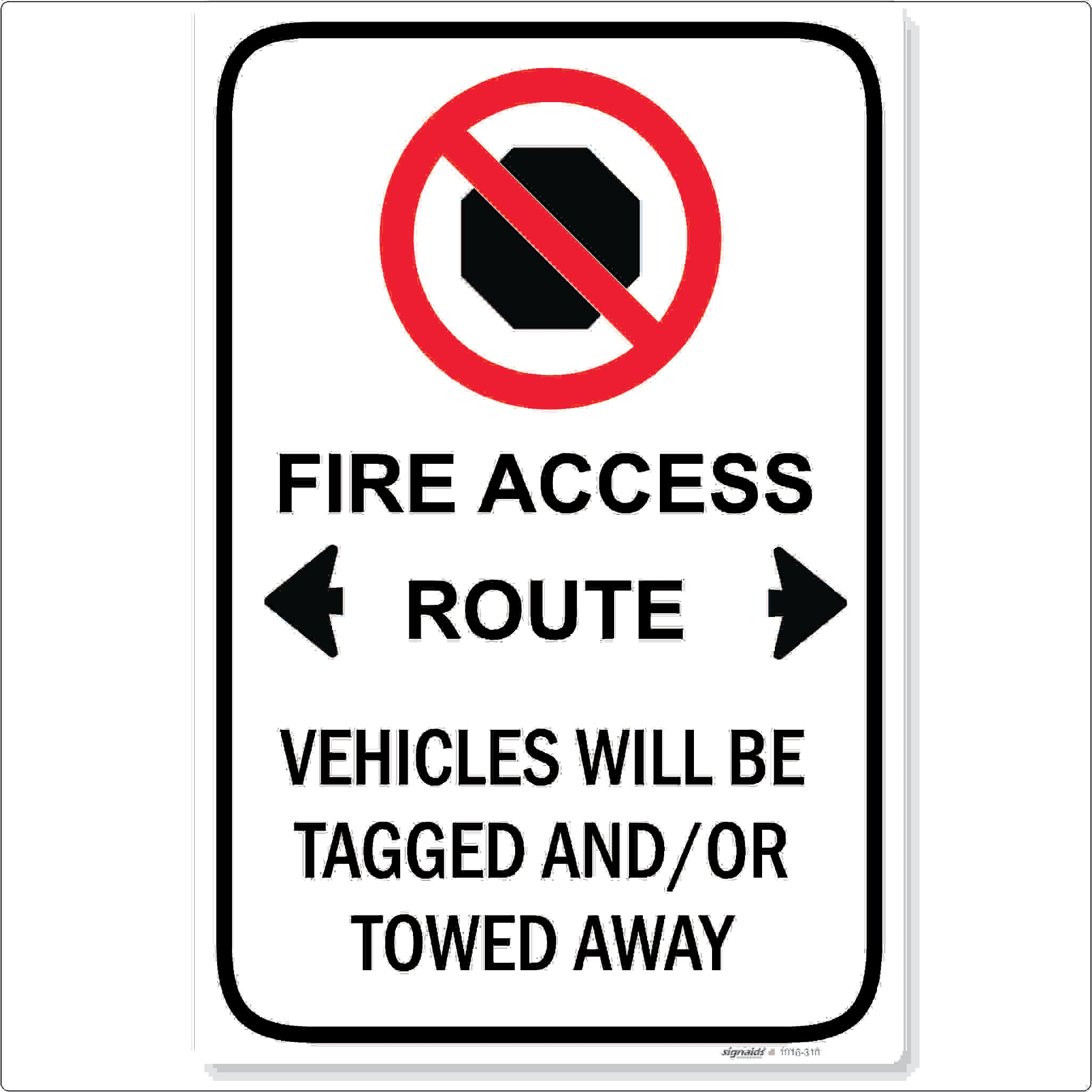 No Stopping Fire Access Route