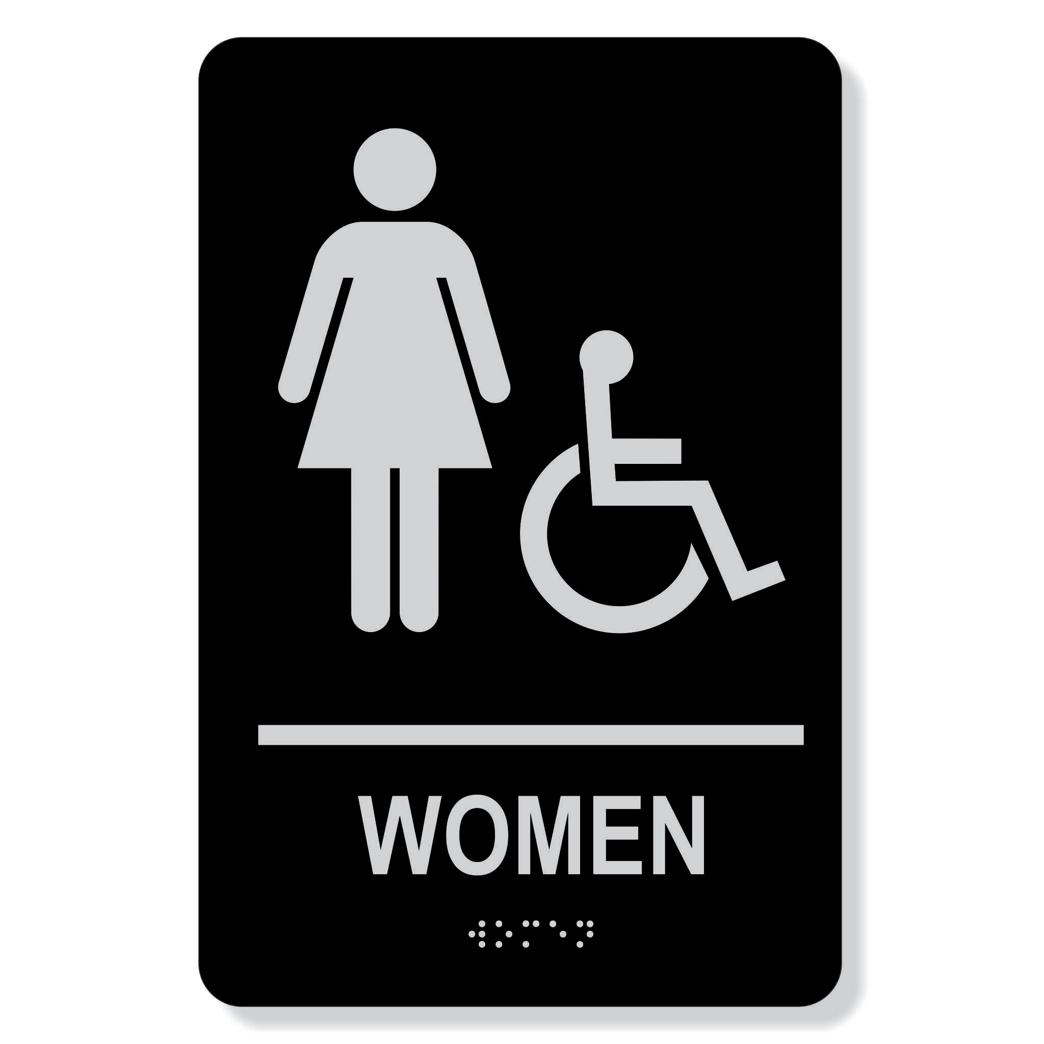 "TJX - 6"" x 9"" Women  Accessible washroom sign"