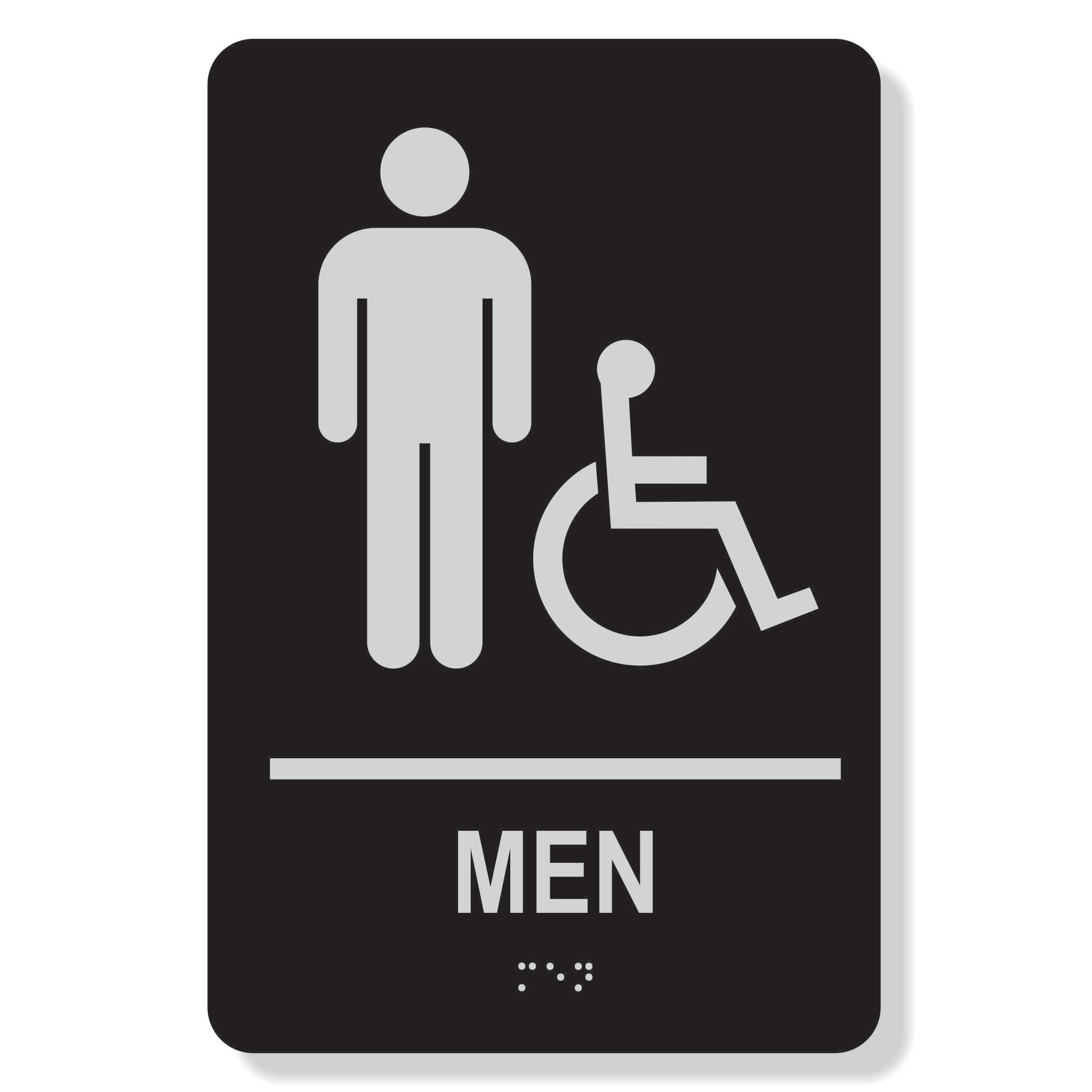 TJX- MENS accessible washroom sign