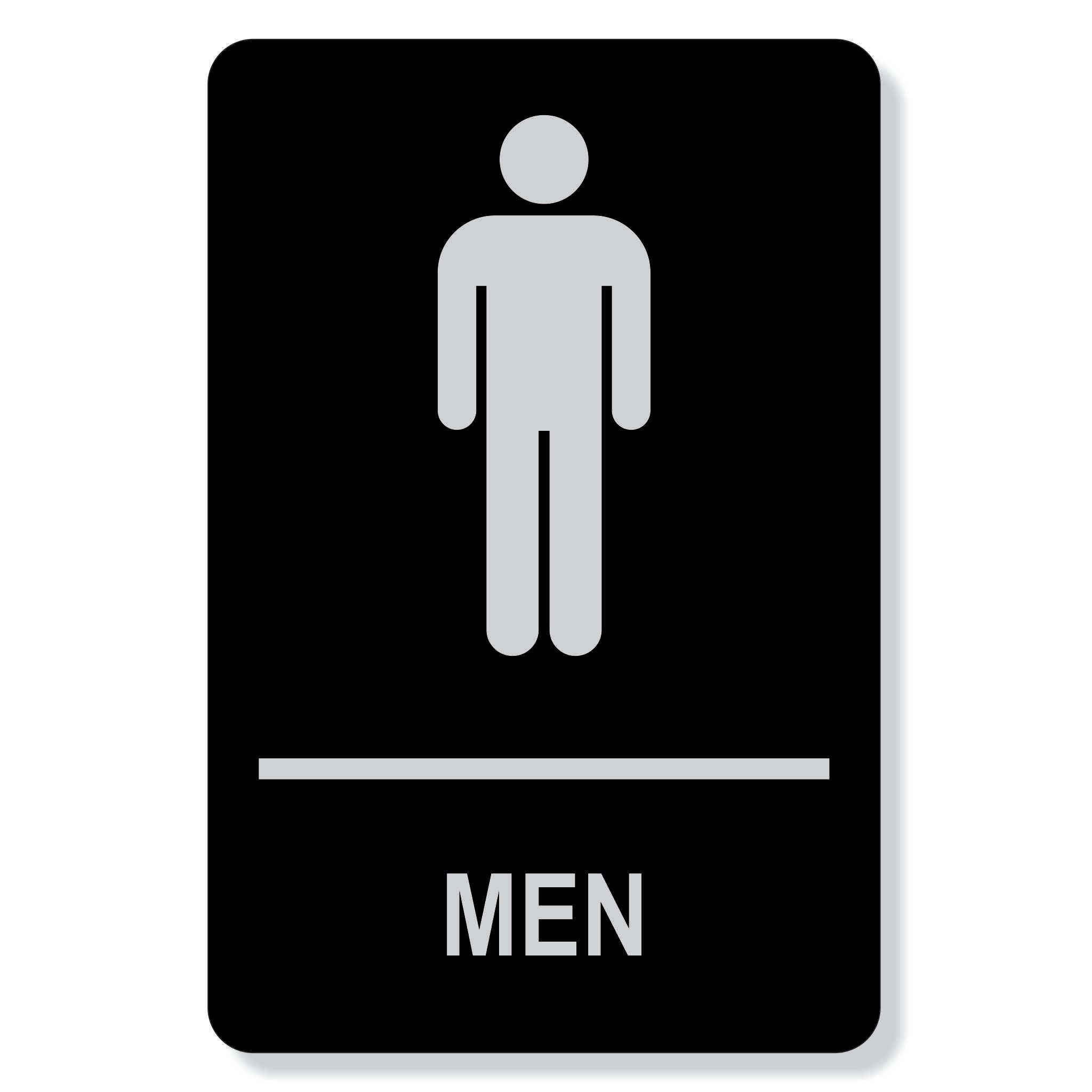 TJX- MEN washroom sign - non accessible facility