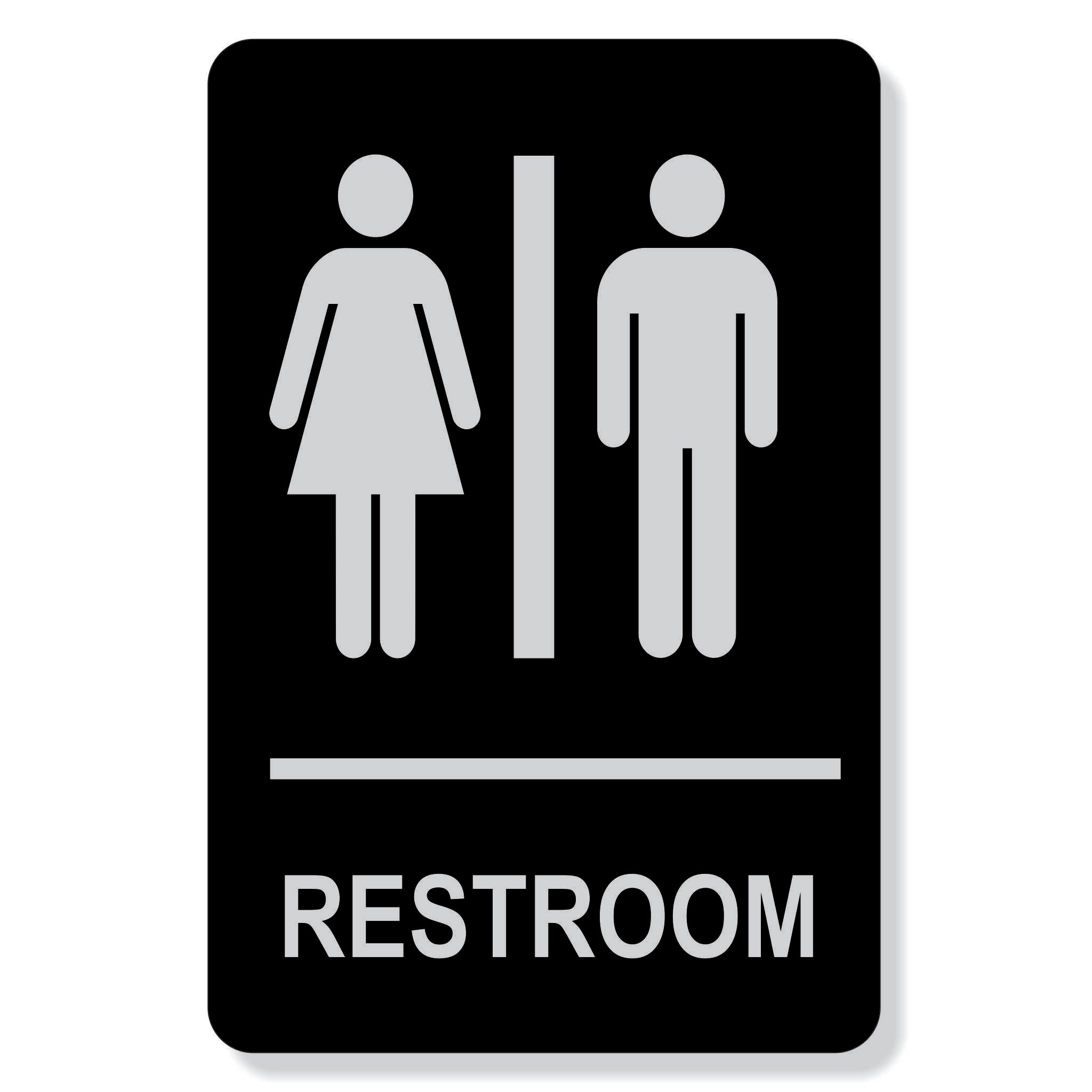 "TJX- 6"" x 9"" Restroom sign - non Accessible"